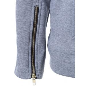 Zipper Design Hooded Long Sleeve Hoodie -