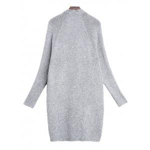 Bat Sleeve Cardigan - GRAY ONE SIZE