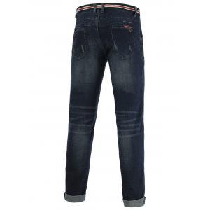 Jeans+Cotton Slimming Straight Leg Embellished Zipper Fly Denim Pants -