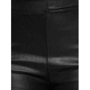 High Waisted Faux Leather Skinny Leggings - BLACK ONE SIZE