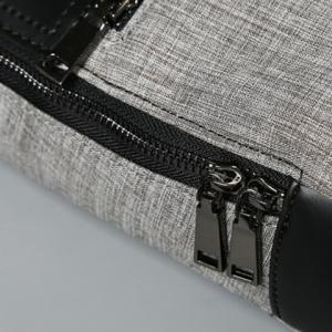 Stitching Color Block Messenger Bag - GRAY