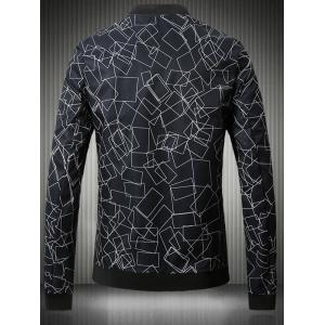 Stand Collar Plus Size 3D Box Print Bomber Jacket -