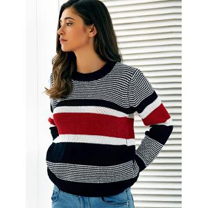 Striped Pullover Stretchy Sweater -