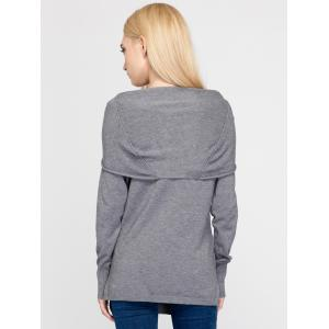 Furcal Hooded Knitwear - GRAY ONE SIZE