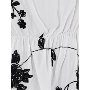 Elastic Embroidered Blouse -