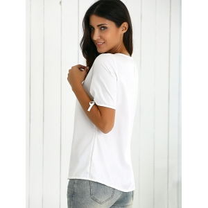 Split Sleeve Cut Out T-Shirt -