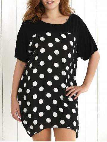 Discount Plus Size Polka Dot Baggy Dress