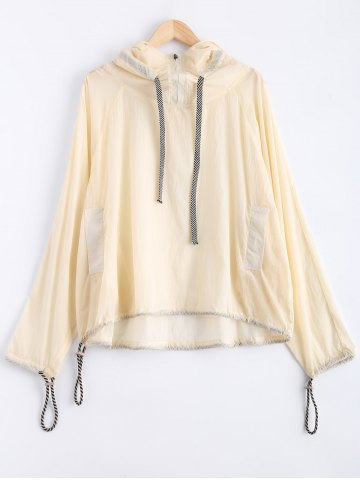 Shop Zipped Drawstring Sun-Protective Hoodie
