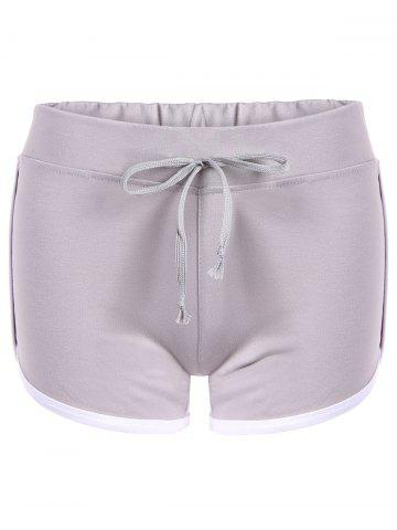 Online Drawstring Waisted Straight Sporty Shorts