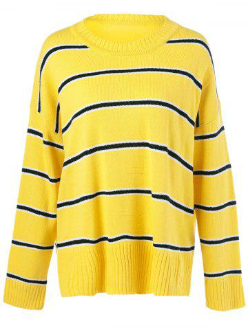 Shops Striped Patchwork Sweater