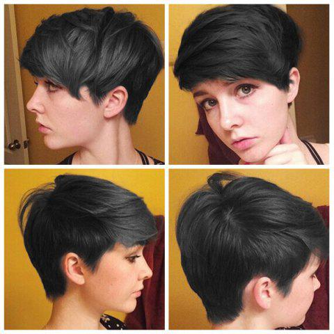 Fancy Faddish Short Side Bang Straight Synthetic Capless Wig