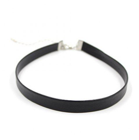 Cheap Fake Leather Choker Necklace