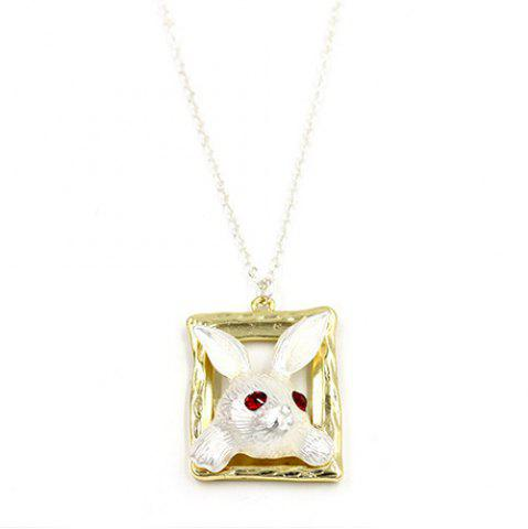 Hot Rabbit Faux Ruby Sweater Chain