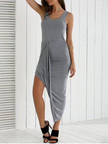 Outfits Asymmetrical Ruched Dress