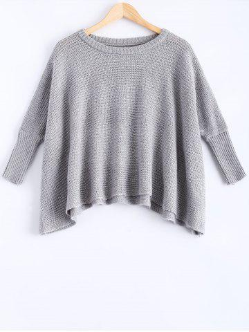 Latest Crew Neck Batwing Sleeve Pullover Sweater