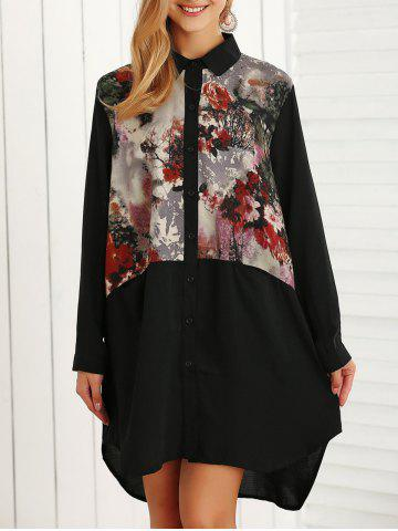 Buy Floral Printed Long Sleeve Shirt Dress