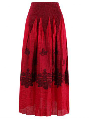 Outfit Stretchy Print Skirt RED ONE SIZE