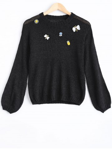 Sale Jewelled Pullover Sweater