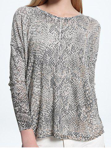 New Printed Scoop Neck Knitwear