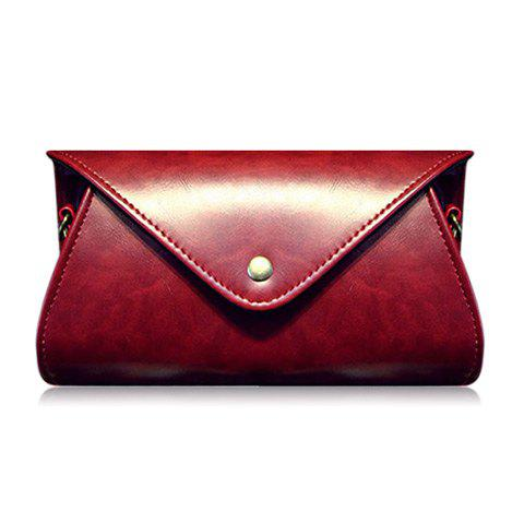 Best PU Leather Covered Closure Dark Color Crossbody Bag
