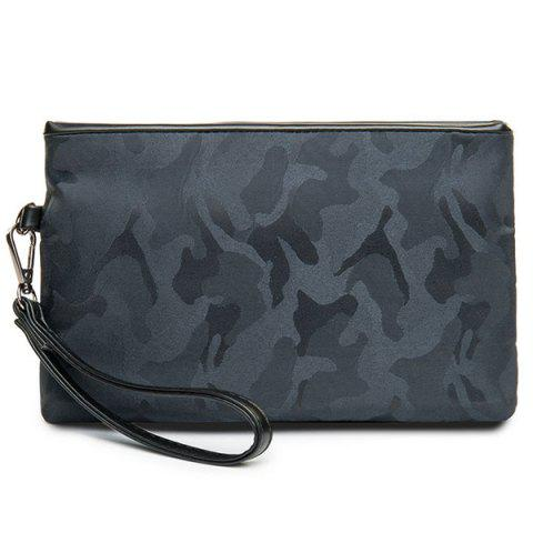 Outfit Zipper Camouflage Pattern Nylon Clutch Bag