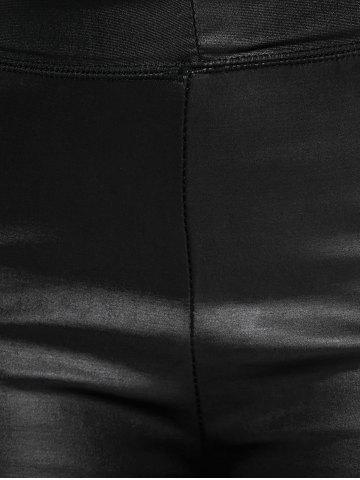 Store High Waisted Faux Leather Skinny Leggings - ONE SIZE BLACK Mobile