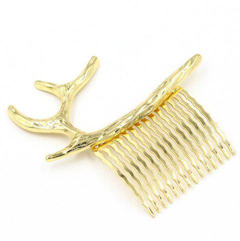 Unique Antler Decorated Hair Comb