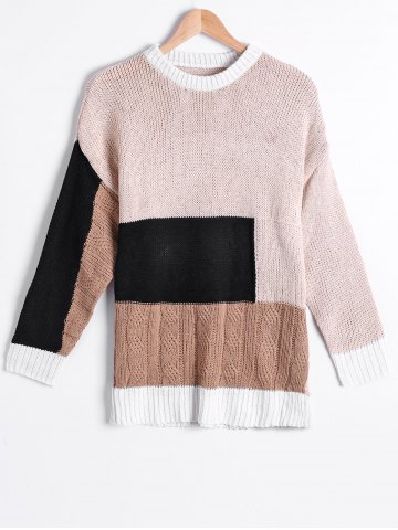 Outfit Street Snap Style Color Block Sweater