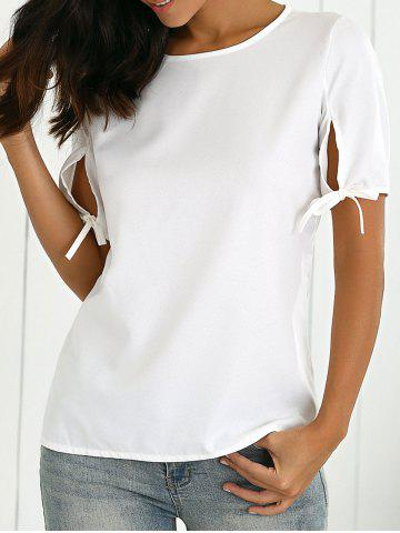 Outfits Split Sleeve Cut Out T-Shirt