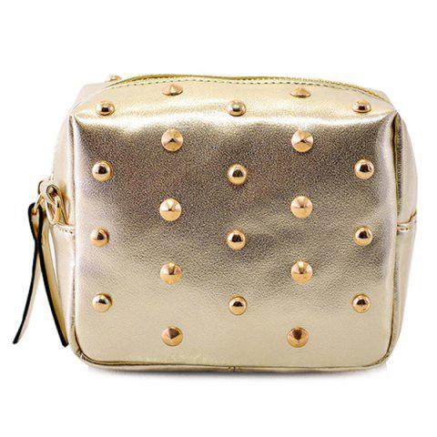 Hot Zipper Rivets PU Leather Crossbody Bag