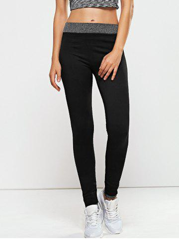 Trendy Quick -Dry Yoga Leggings Pants BLACK L