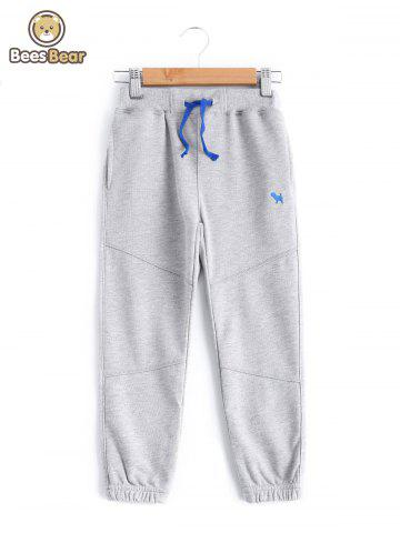 Sweatpants taille coulissée Pocket Design Garçon  's - GRAY - CHILD-4