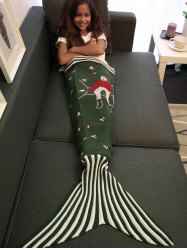 Comfortable Christmas Style Knitting Mermaid Tail Blanket