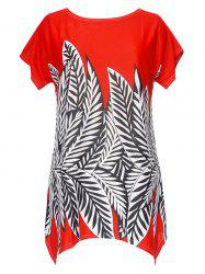 Asymmetrical Print Blouse -