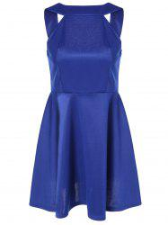 Sleeveless Backless Fit and Flare Dress -