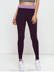 Quick -Dry Yoga Leggings Pants - PURPLE