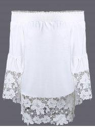 Bohemian Off The Shoulder Lace Trim Blouse
