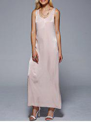 U Neck Sleeveless Casual Maxi Dress