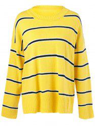 Striped Patchwork Sweater -