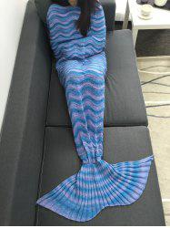 Super Soft Knitting Wave Stripe Sofa Mermaid Tail Blanket