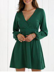 Low Cut Fit and Flare Dress -