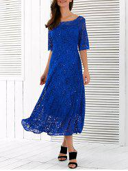 Lace Swing Midi Princess Prom Dress