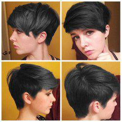 Faddish Short Side Bang Straight Synthetic Capless Wig -