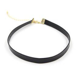 Fake Leather Choker Necklace