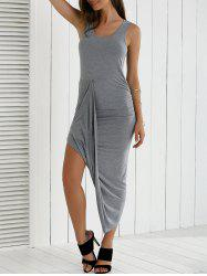 Asymmetrical Ruched Dress -