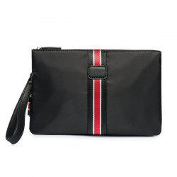 Zip Splicing Color Block Nylon Clutch Bag
