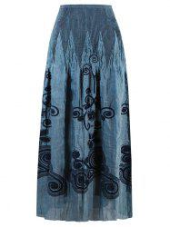 Elastic Waist Patterned Skirt