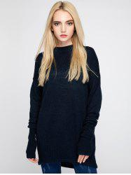 Round Neck Crochet Knitwear - PURPLISH BLUE