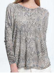 Printed Scoop Neck Knitwear -