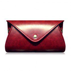 PU Leather Covered Closure Dark Color Crossbody Bag